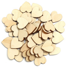 Hot Sale 50PCs Mini Wooden Love Heart Shapes Gift Making Decor Scrapbooking Craft Card 20x20mm Wood Craft