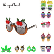 MagiDeal Novelty Summer Beach Party Sunglasses Fancy Dress Costume Party Glasses Xmas Christmas Party Dress Decor