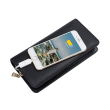 Fashion Wallets With 6000mAh Movable Power Multifuntion Purse Gift For Client Staff Men's Wallets For Friend New Design