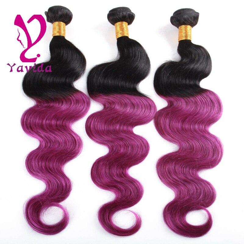 Ombre Purple Brazilian Hair 3 Bundles Purple Ombre Hair Brazilian Body Wave Purple Ombre Extensions Black and Purple Body Wave<br><br>Aliexpress