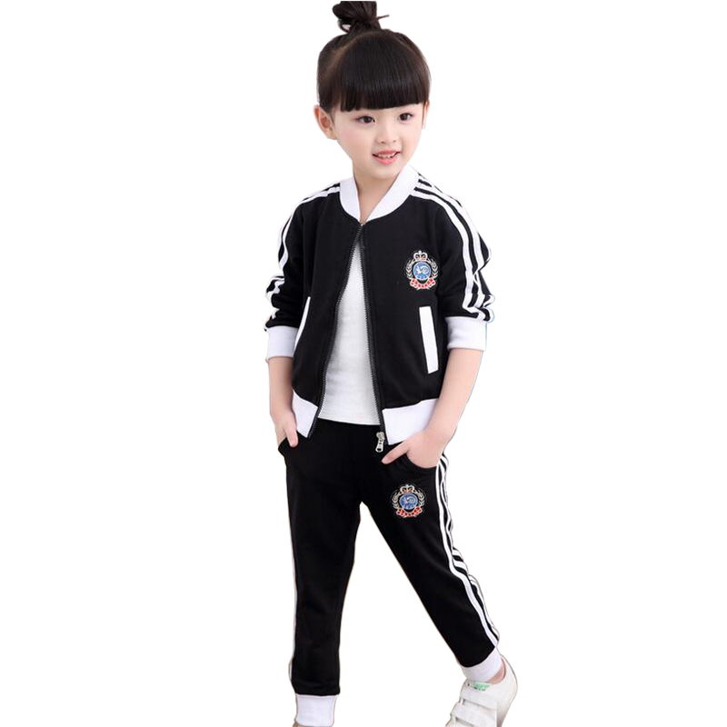 Autumn Tracksuits For Girls Casual Vetement Fille Hiver Long Sleeve Sports Suit For A boy Childrens Clothing New Arrival<br>
