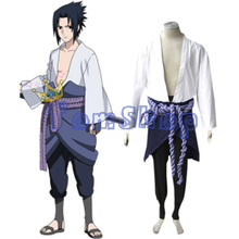 Japanese Anime Naruto Shippuuden Uchiha Sasuke 3rd Cosplay Uniform Suit Men's Halloween Costumes Free Shipping