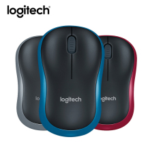 Original Logitech Mouse M186 Optical Ergonomic Mini 2.4GHZ Wireless Mouse Laptop PC Nano Receiver Game Mice Computer Peripherals