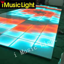 16Pcs/Lot DMX controller,5050 RGB 3in1 led effect dance floor,dance club stage,led dance floor for sale(China)