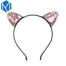 M MISM Girls Fashion Lace Character Cat Ears Hair Band Perfect Quality Party Hair Accessories for Women Hair Clasp Fine Ornament