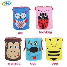 Animal Pattern Washing Clothes Storage Baskets large storage barrel Cartoon Foldable Hamper Children dirty clothes storage box(China)