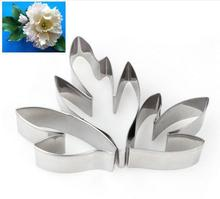 Metal Stainless Steel Tools Peony Flower Leaves Cutters Set Home Furnishing Products Kitchen Baking Supplie
