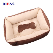 Winter Warm Brown Cotton Kennel For Puppy Cat Durable Comfortable Soft Dog House Pet Cushion