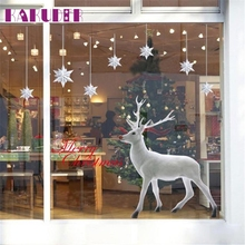KAKUDER Christmas Deer Removable Wall Sticker Art Home Decor Decal  Window Stickers U6927 DROP SHIP