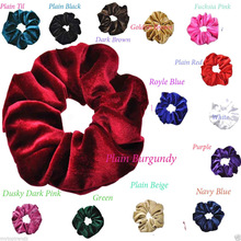 C New Fashion Luxury Soft Feel Velvet Hair Scrunchie Ponytail Donut Grip Loop Holder Stretchy Hair band for women