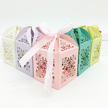 Cross Gift Paper Boxes Creative Laser Cutting Wedding Candy Box Chocolate Carton Wedding Decoration Supplies 50 Pcs 7ZSH129