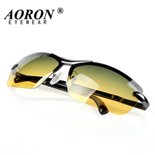 AORON Day & Night Vison Multifunction Men's Polarized Sunglasses Reduce Glare Driving Sun Glass Goggles Eyewear de sol(China)