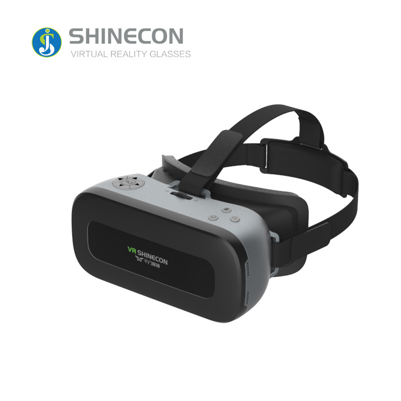 JSLINTER AIO1 All-in-one Virtual Reality Glasses 3D 360 Degree Android 4.4 system Google Cardboard with 40mm Lens concise light