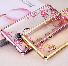 Soft Rhinestone Silicone Cases for Huawei P8 P9 P10 Lite Case 2017 for Huawei Honor 5C 8 6X Case for Huawei Y5 II Mate 9 Case