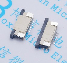 80pcs FFC flexible flat cable connector 1.0MM 6P 6 Bit The following connection drawer flexible cable outlet