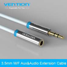 Vention jack 3.5mm male to female Stereo Audio Cable 1m 2m 3m Headphone Aux Extension Cable for Computer/Cellphone/DVD/MP3