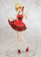 Fate Extra Nero Saber Red Dress Model Doll PVC 25cm Box-packed Japanese Anime Figurine Action Figure FT11(China)