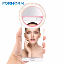 Selfie Flash 40-Led Camera Phone Photography Ring Light Enhancing Photography for iPhone/Samsung/Smartphone Pink White