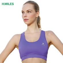 HMILES women yoga sports bra athletic underwear fitness crop top tank gym running vest jersey sexy seamless push up plus size(China)