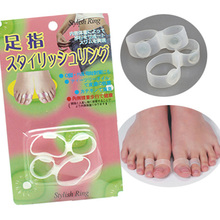 10Pcs/5Pairs Magnet Lose Weight Thinness New Toe Ring Healthy Slim Loss  Sticker Silicon Foot Massager Fat Burner C424