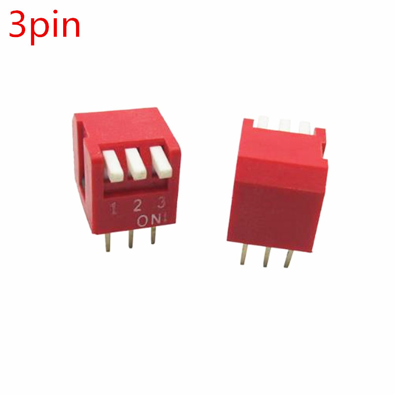 50pcs Dialing switch straight insert 3pin 2.54mm foot distance code switch