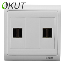 OKUT  N86-903-622-2+623+622-2 four USB power charging socket panel phone jack 86 Wall Plate DIY  free shipping