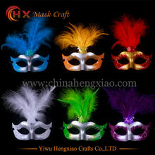 New 10pcs/lot feather mask lace fringed pearl party mask venetian masquerade masks gift halloween decoration