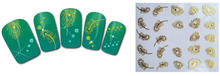 1sheet small nail stickers golden Peacock feather fashion patch nail tool(China)