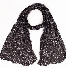 Hot Sale New Style Black Print Stars Voile Chiffon Blanket Scarf Trendy Warm Winter Scarf Ladies Scarves Shawl(China)
