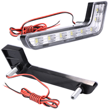 2pcs 6000K 8 LED Car Daytime Running Light Waterproof Shockproof Auto Head Lamp Driving Bulb Lamp Eagle Eyes MA145+
