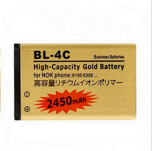 2Pcs High capacity 2450mAh BL-4C Li-ion Replacement Battery For Nokia 2652 3108 6100 6170 6260 7270 6101 6102 Replacement Batter