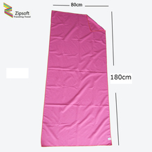 Zipsoft Large Beach towel 2017 Microfiber Pink Compressed Bath Swim Quick-drying Sports Yoga Camp Spa Body Wraps Baby Blanket