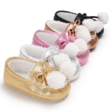 Sweet Baby Boys Girls Winter Loafer Shoes Keeping Warm Soft Sole First Walker Crib Babe Prewalker Newborn Infant Toddler Shoe(China)