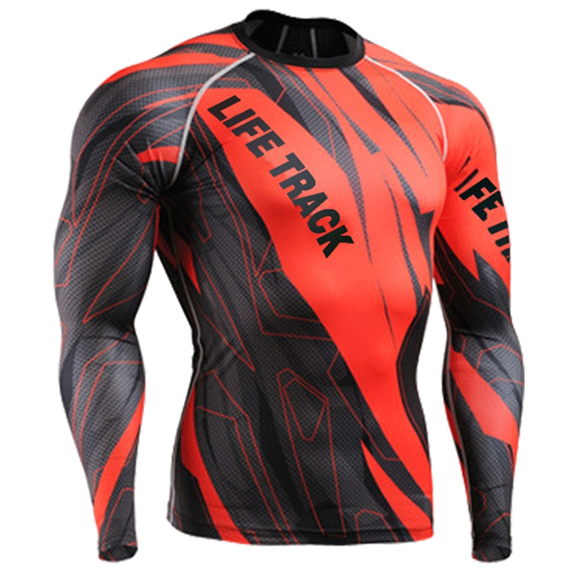 Life on Track 3D Men Long Sleeves Cycling Jersey 4 Seasons Comfortable-fitting MTB Bike Bicycle Jackets Red S~4XL<br>