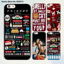 FRIENDS TV SHOW Best Friends Forever design transparent clear Cases Cover for Apple iPhone 6 6s Plus 7 7Plus SE 5 5s 4s 5c(China)