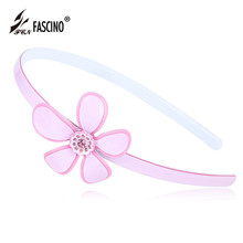 2016 New Fashion PVC Hairbands Hoop Crystal Rhinestone Flower Hair headband Hair Jewelry Accessories For Women Girls (DG840151)