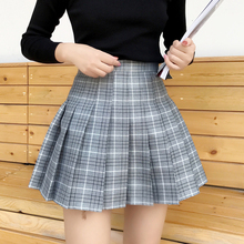 Buy Spring Summer preppy style Plaid Skirts Women Sweet Cute Little Fresh A-Line Skirt High Waist Pleated Skirt cotton mini skirt for $10.75 in AliExpress store
