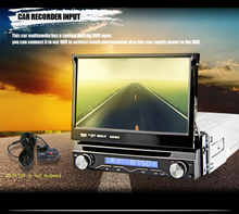7 Inch HD Car Video Player 1 DIN Car DVD Player GPS Handfree Multimedia Player In-dash Car GPS NAVI Player 1-DIN Instal