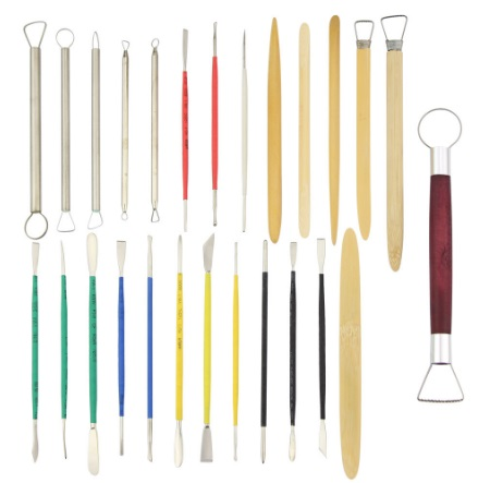26pcs/Set Ceramic Model Home Craft Art Pottery Clay Carving Cutter Modelling Sculpting Tools Handwork(China (Mainland))