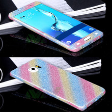 For Samsung Galaxy S6 Edge Full body phone sticker Shiny Glitter Sparkling Diamond Film cell phone Stickers For Galaxy S6EDGE