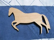 Brand New Fast shipping accept mix buying unique design big wooden horse brooch(China)