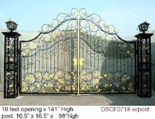 Hench custom made luxury wrought forged iron gates hench-ig4