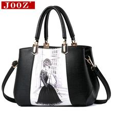 2016 New Arrival Design Women Character Printed Handbag PU Leather Ladies High capacity tote bags female crossbody bags