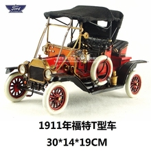 High Quality Retro Car do old 1911 T Ford Restor Car Metal Toys Gran Torino nostalgic Ornament Handmade Creative Gifts & Crafts(China)