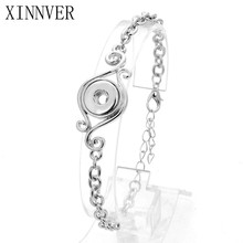 Buy Xinnver Snap DIY Bangles Adjustable 12mm Snap Bracelet Metal Snap Button Jewelry Charms Bracelet Women for $1.20 in AliExpress store