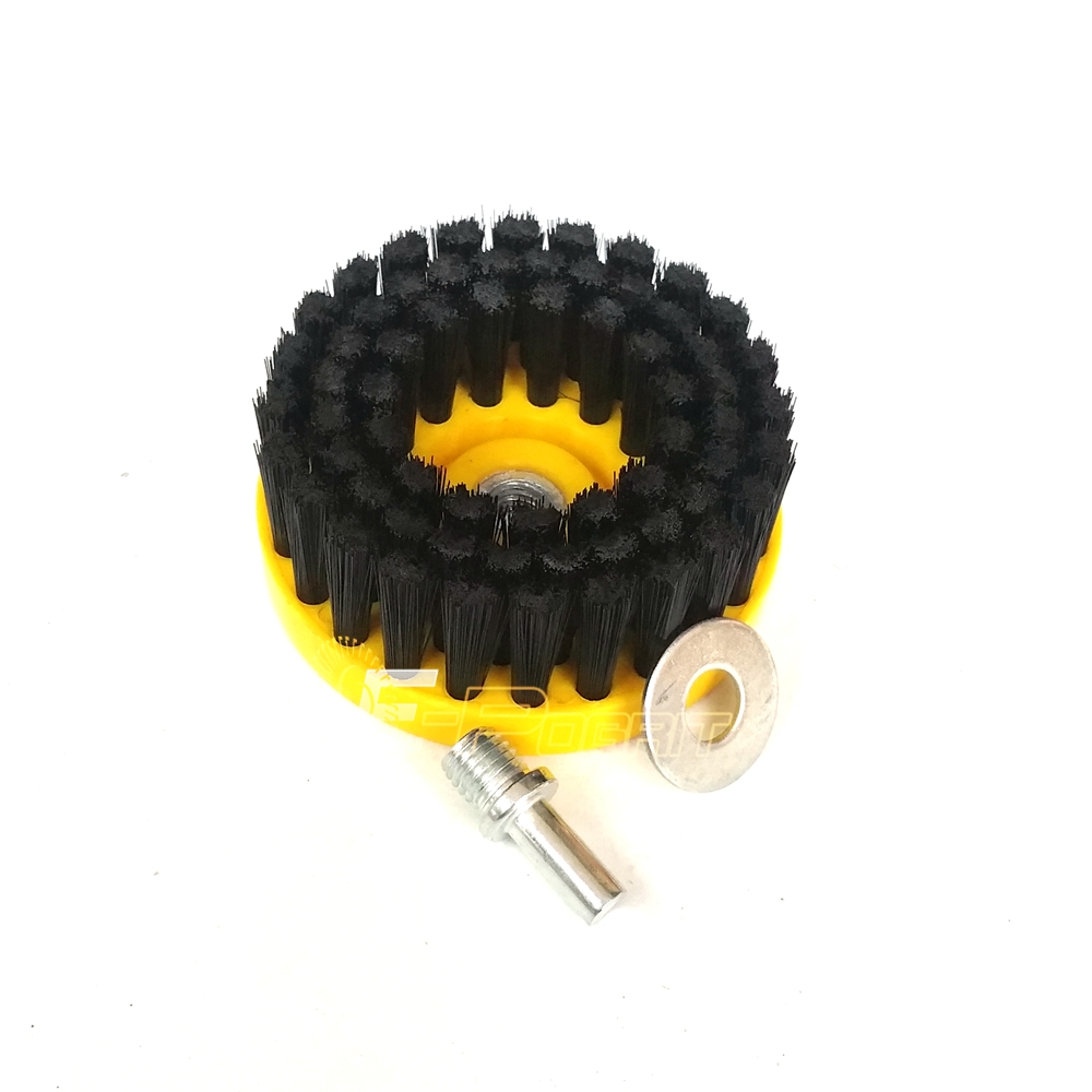 Dia. 110mm Black Clean Brush used on Electric Drill for Leather Plastic Wooden Furniture Car interiors Cleaning<br><br>Aliexpress
