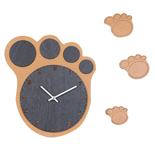 Homingdeco Modern Creative Cartoon Wooden Wall Clock Silent Living Room European Style Wall Clock Round Household Decor Clocks(China)
