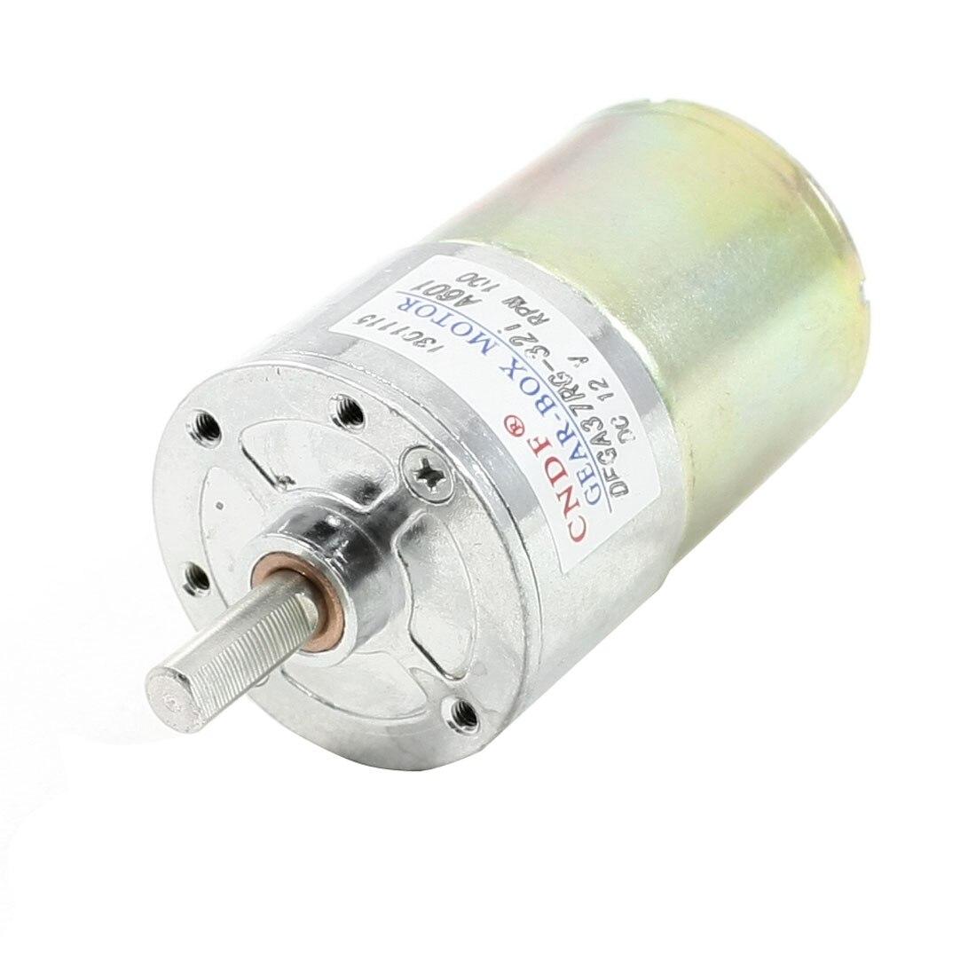 UXCELL 100Rpm Speed 6Mm Diameter Shaft 2 Terminals Geared Motor  12V<br><br>Aliexpress