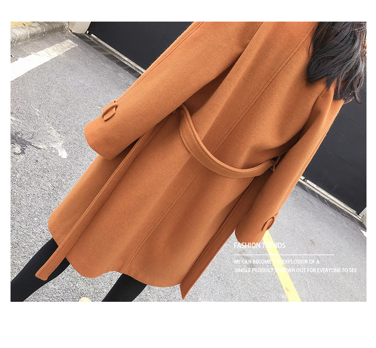 Mishow 19 autumn and winter woolen coat female Mid-Long New Korean temperament women's popular woolen coat MX17D9636 25