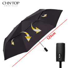 CHN-TOP Large 125cm Double Layer Umbrella For Men 3Folding Windproof High Quality Automatic Rain Women Outdoor Strong Umbrella(China)